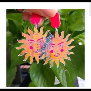Sun Acrylic Earrings
